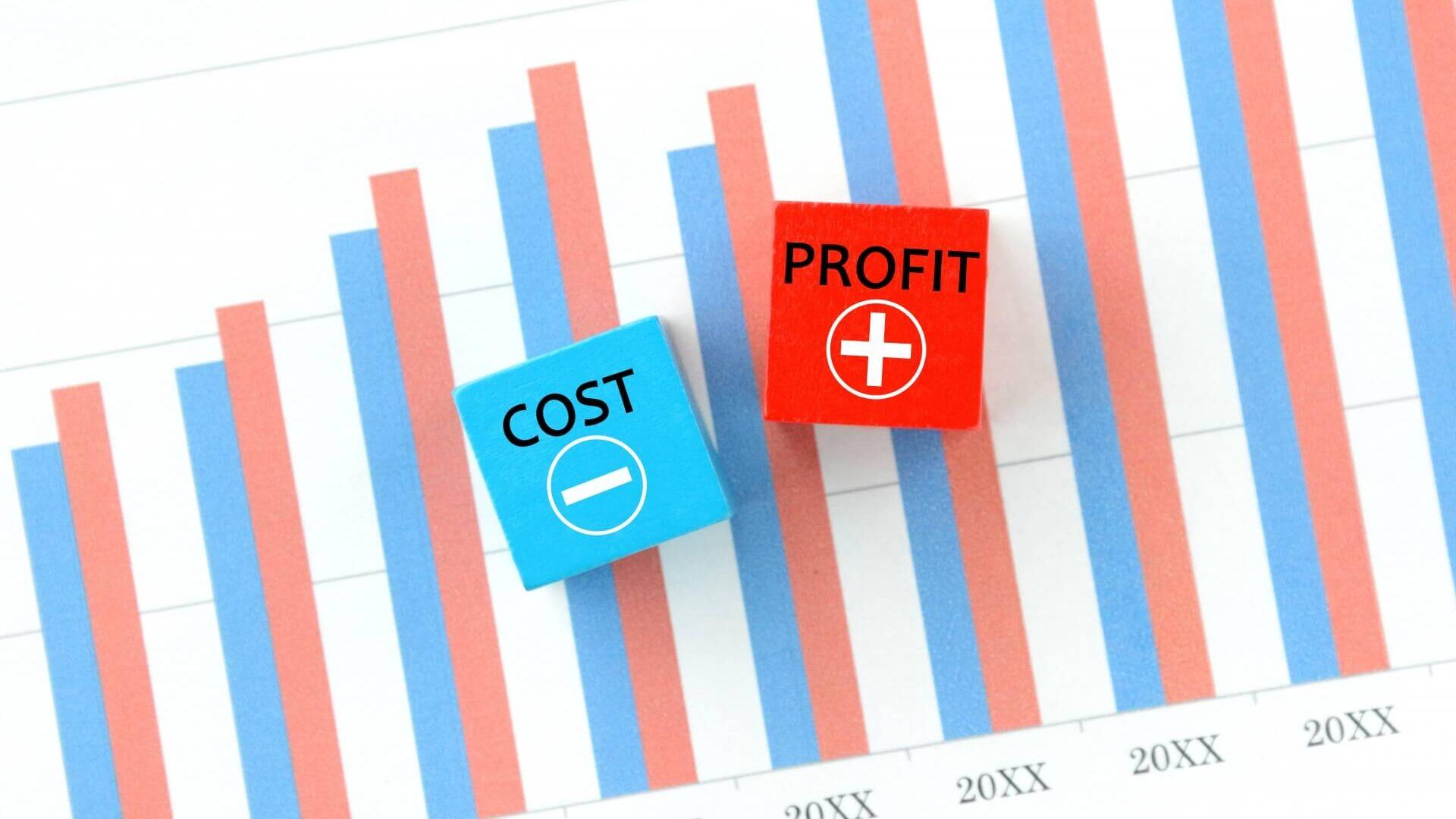 コストや利益の資料