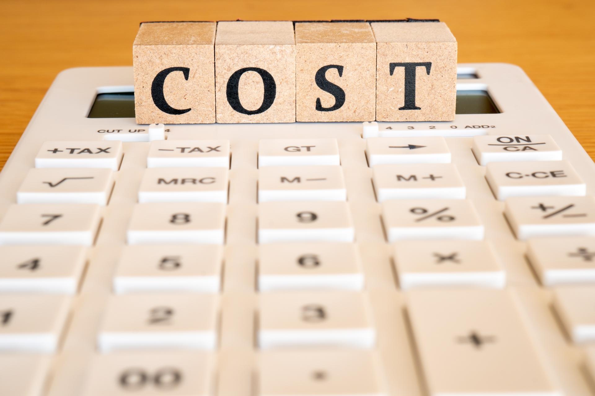 COST表示の電卓